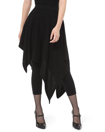 Cashmere Asymmetric Skirt