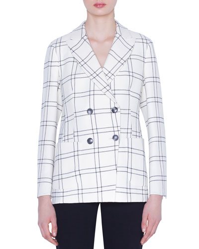 Danita Check Wool Crepe Jacket