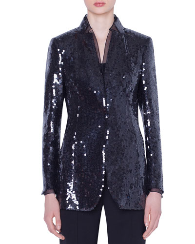 Daria Sequined Organza Jacket