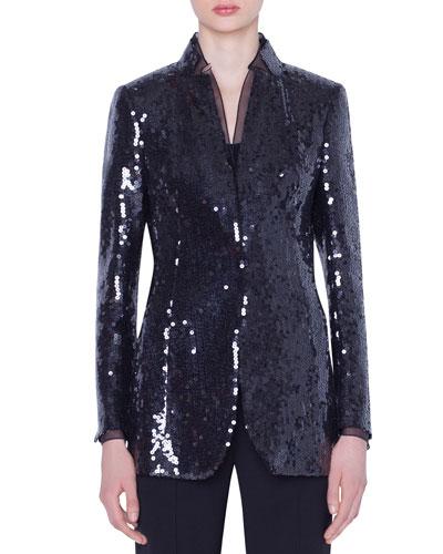 5d7a261c7b76 Quick Look. Akris · Daria Sequined Organza Jacket