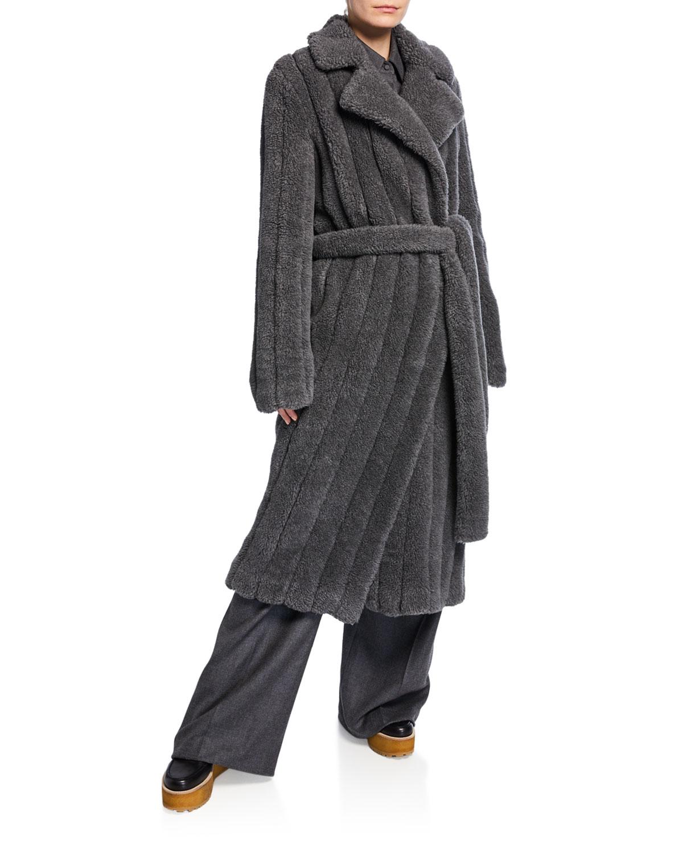 Gabriela Hearst Coats PAVLOVNA WOOL-CASHMERE FUR TRENCH COAT