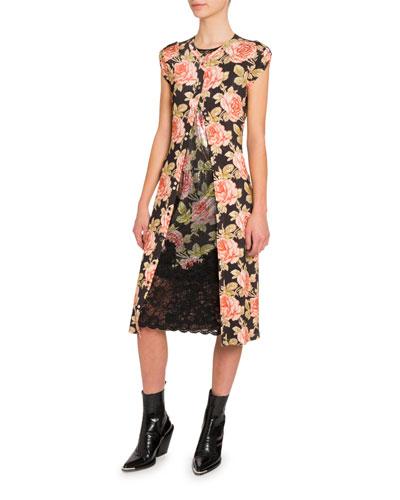 35f4801b44b2 Quick Look. Paco Rabanne · Floral Cap-Sleeve Bodycon Dress