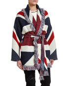 Alanui Union Jack Jacquard Cashmere Cardigan and Matching