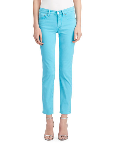 400 Matchstick Garment-Dye Jeans Turquoise