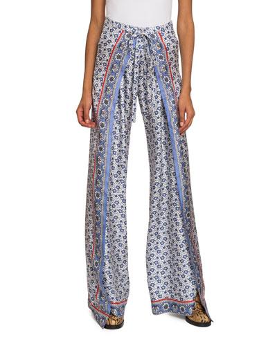 29119df214 Quick Look. Chloe · Bandana-Print Wide-Leg Pants
