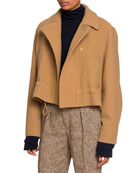 Chloe Snap-Front Jacket with Drawcord and Matching Items