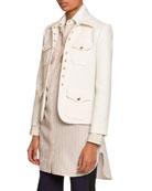 Chloe Snap-Front 4-Pocket Jacket