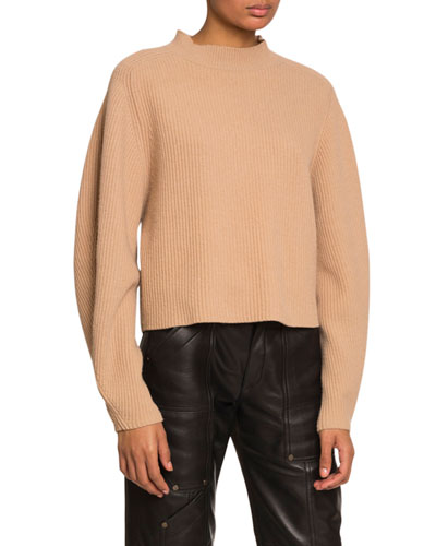 Ribbed Wool-Cashmere Sweater