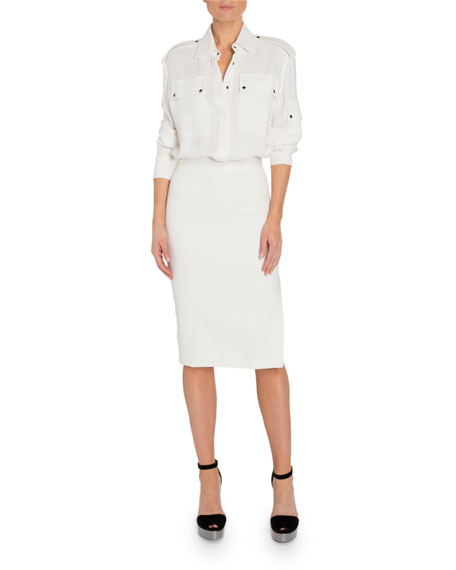 TOM FORD Patch Pocket Front Dress