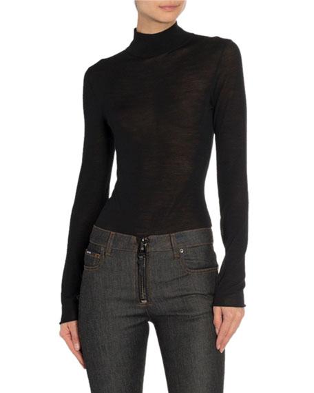 TOM FORD Mock-Neck Long-Sleeve Bodysuit