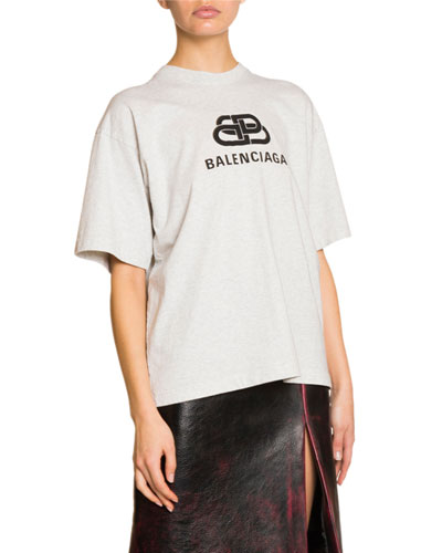 Puffed-Logo Graphic Signature Tee