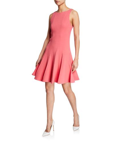 Sleeveless Pleated-Skirt Dress