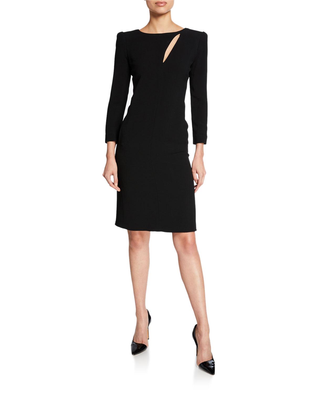 Emporio Armani Dresses BRACELET-SLEEVE DRESS W/ SATIN-DRAPE DETAIL
