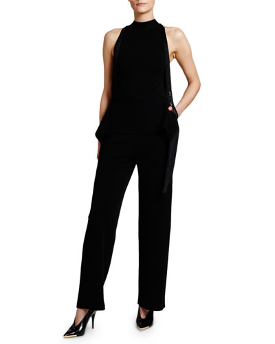 Fringed Halter-Neck Jumpsuit