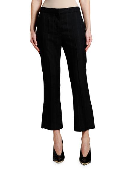 Stella McCartney Pinstriped Wool Crop Trousers