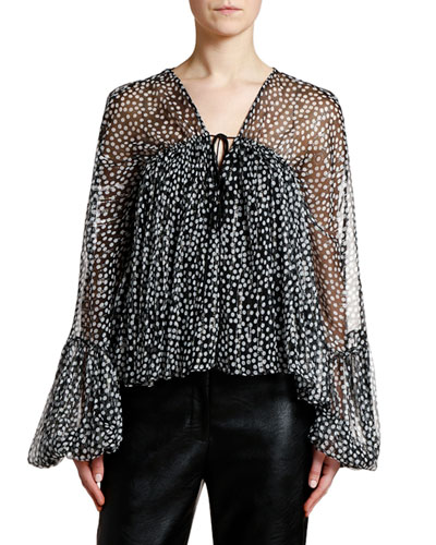 84ef5f9bf3a189 Womens Silver Blouse | Neiman Marcus