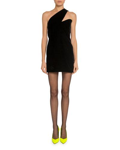 Asymmetric One-Shoulder Cocktail Dress