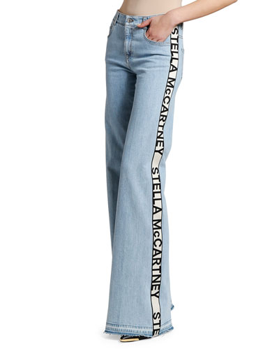 Mid-Rise Side-Taped Jeans