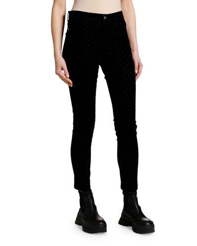 Flocked Skinny Jeans