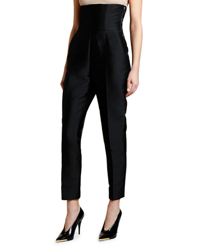 Super High-Rise Mikado Trousers