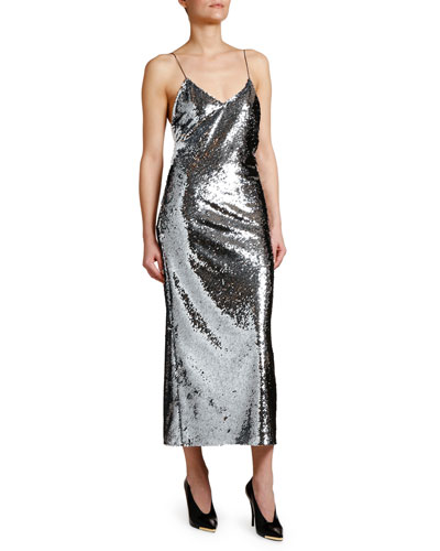 Messy Sequined Cami Dress