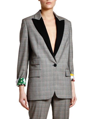 Prince of Wales Tuxedo Jacket with Lucy in the Sky Lining