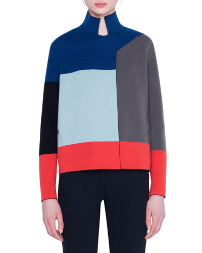 Cashmere Colorblocked Cardigan