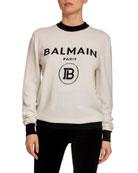 Balmain Wool-Cashmere Logo-Knit Sweater and Matching Items &