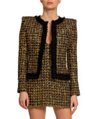 Balmain Golden Tweed Open-Front Jacket and Matching Items