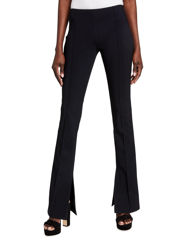 Neoprene Flare-Leg Pants