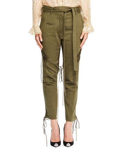 Tie-Waist Military Pants