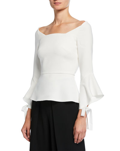 Holden 3/4 Bell-Sleeve Blouse