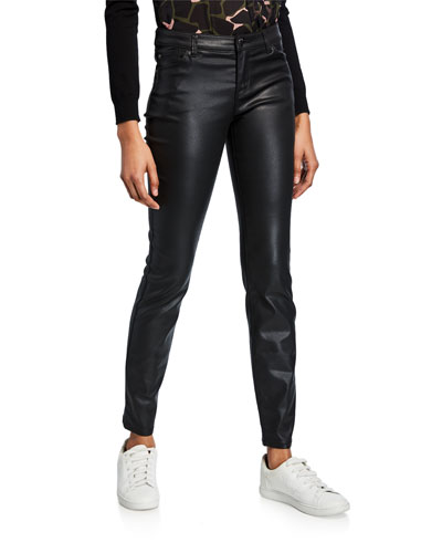 Waxed 5-Pocket Skinny Jeans