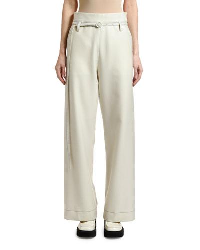 Light Flannel Paperbag Pants