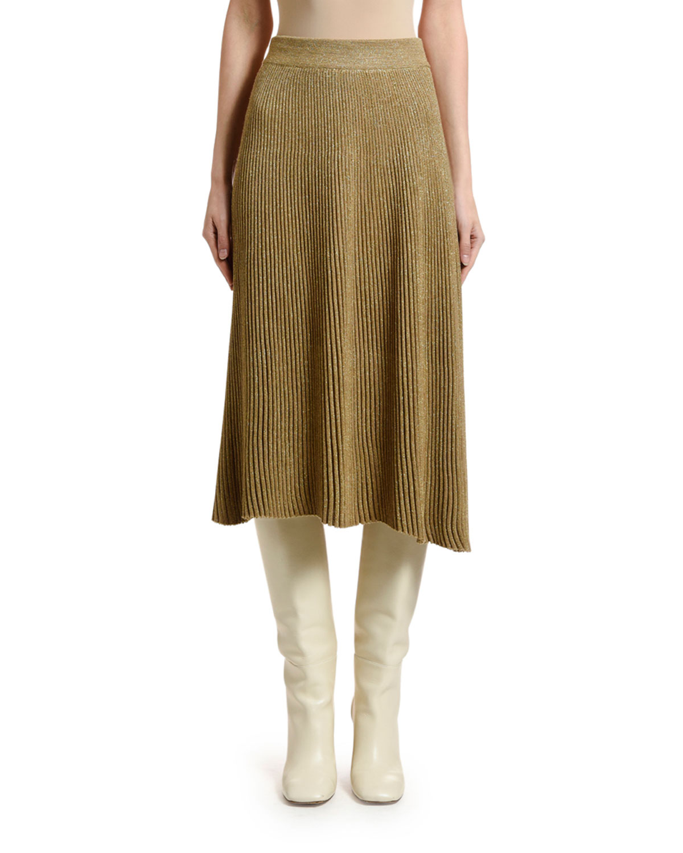 Marni Pleated Knit Midi Skirt