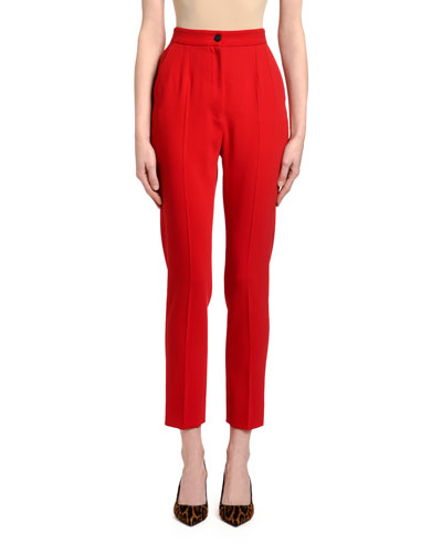 Zip Front Wool Pants