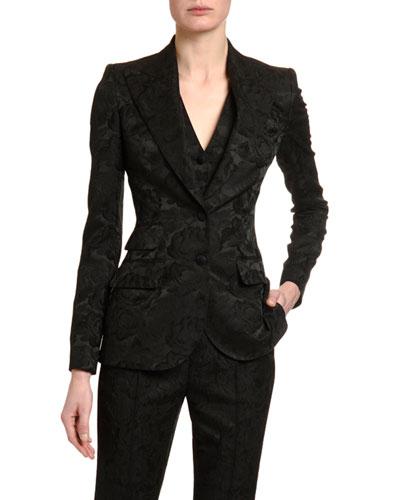Stretch Jacquard Blazer Jacket