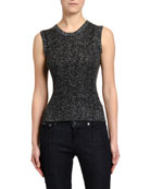 Dolce & Gabbana Chevron-Knit Wool Shell