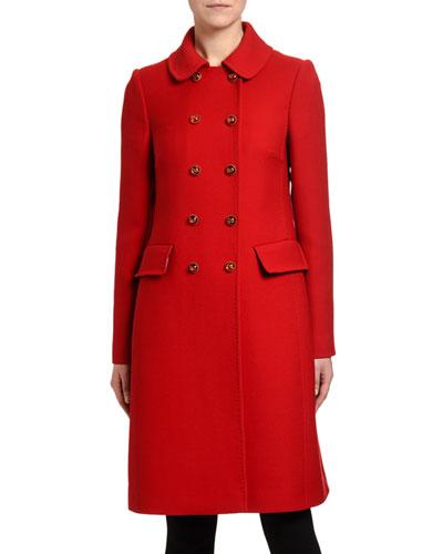 968c3ab38f0b Quick Look. Dolce & Gabbana · Double-Breasted Crepe Midi Coat