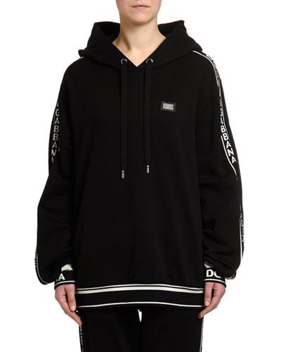 Jersey Logo Zip-Front Sweatshirt