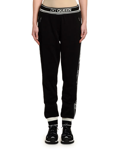Logo Banded Pull-On Jersey Pants