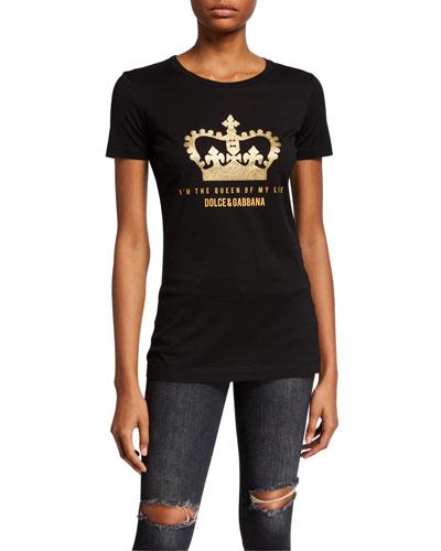 Glitter Crown Logo T-Shirt