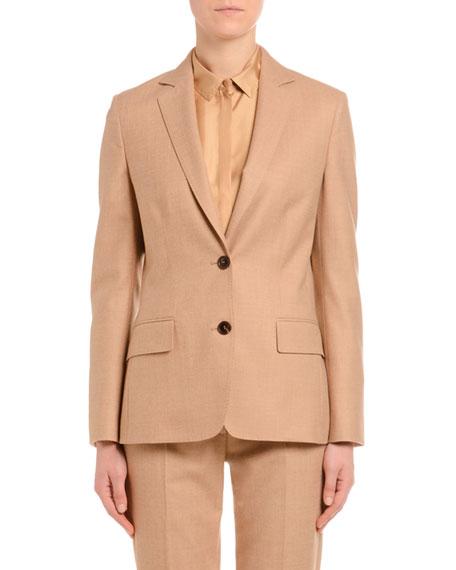 Agnona Wool Flannel Single-Breasted Jacket