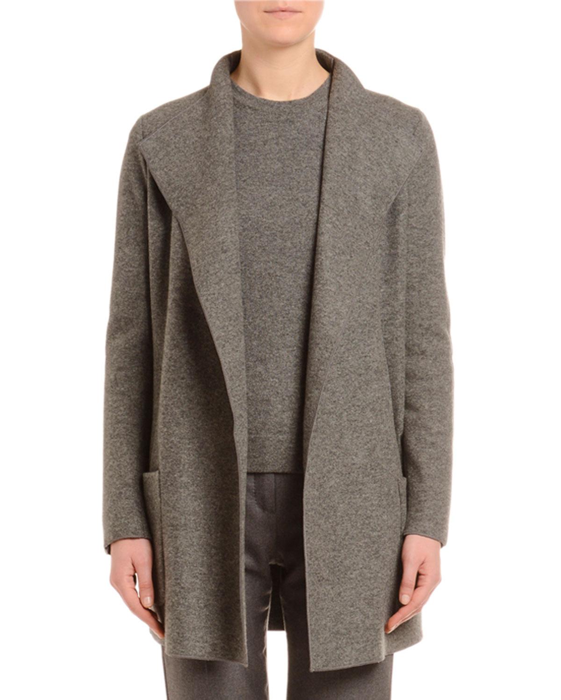 Cashmere Fluid-Collar Jacket