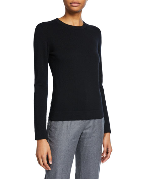 Agnona Cashmere Tubular-Finish Crewneck Sweater