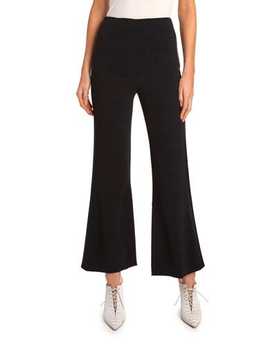 Madison Slight Boot-Cut Tux Striped Pants