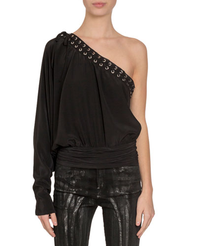 2007850f542261 Silk Black Lace Top