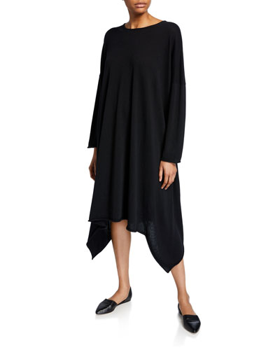 280faf824fc Quick Look. Eskandar · Cashmere Side-Cascading Boat Neck Dress. Available  in Black