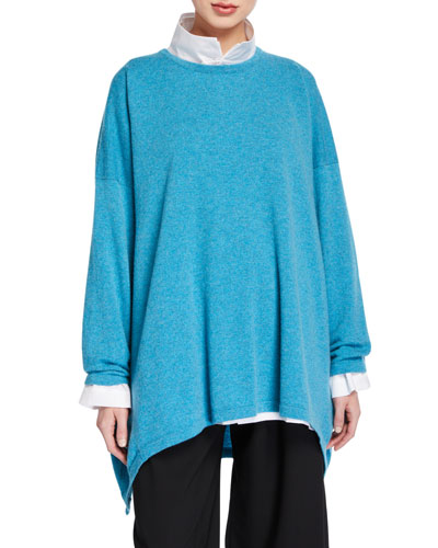 Cashmere High-Low Sweater