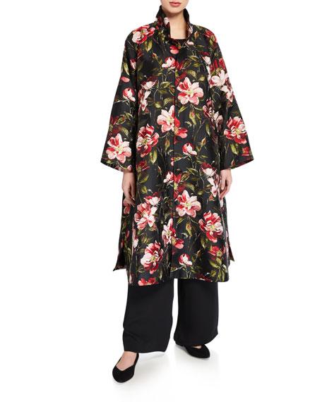 Eskandar Floral-Print Midi Jacket
